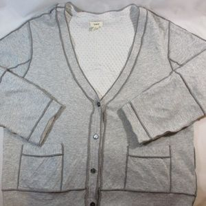 Anthropologie Sweaters - Anthro. Tiny Heathered Gray Cropped Cardigan M